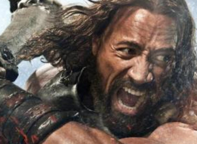 Dwayne the rock Johnson as Hercules