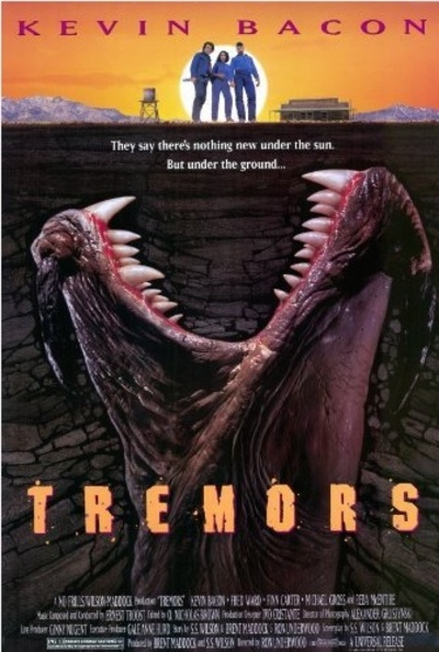 Tremors 1990 Movie Poster Starring Kevin Bacon, Fred Ward and Finn Carter